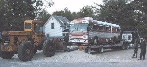 Bus Unloaded at Conway Truck Service