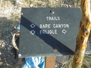 Bare Canyon Trail Sign
