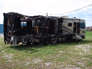 Burned out motorhome