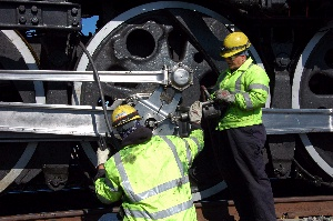 Train Crew Grease Connecting Rods