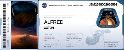Mars Flight Boarding Pass